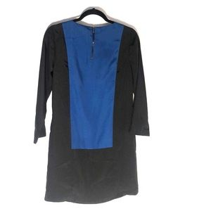 Black and Blue Long Sleeve Dress